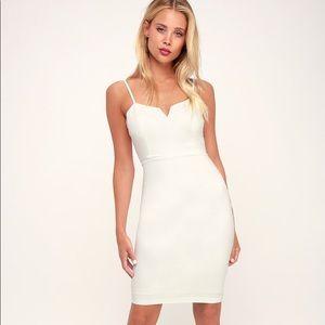 New Lulu's Gianna White Sleeveless Dress